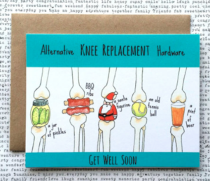 Knee Replacement Get Well Card